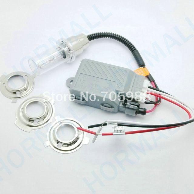 1 set universal hid xenon motorcycle headlight Hi/Lo motorbike H6m H6 H4 bi  xenon motorcycle hid kit