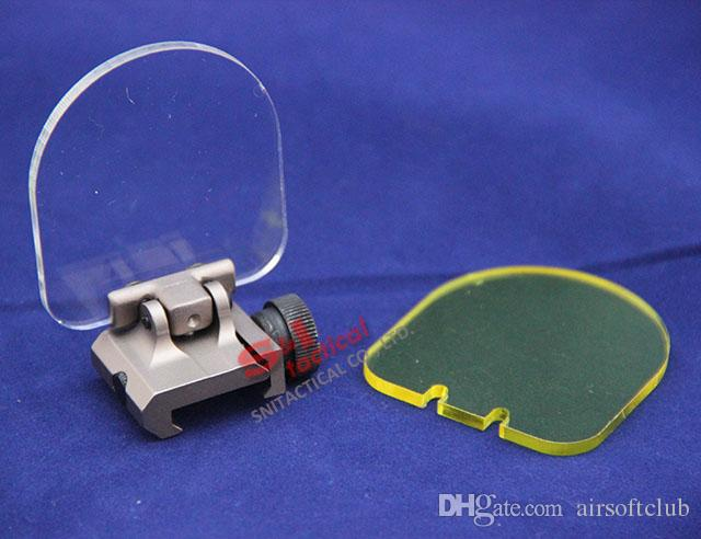 Пуленепробиваемый объектива Складной протектор для Airsoft Scope Red Green Dot прицел для АГС / Aimpoint Dark Earth