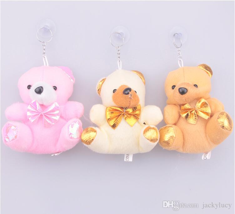 Western Style Creative Gift Bags Cute Little Bear With Gold Backpack Candy Chocolate Bag For Wedding Holiday Party Decorations Supplies