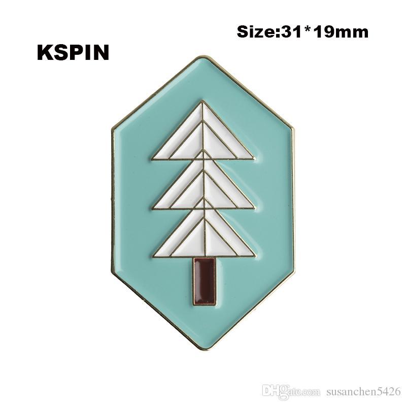 Perni di spilla del distintivo del metallo dell'Islanda che spedice liberamente XY0065