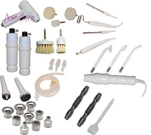 7 in 1 Digital Diamond Microdermabrasion High frequency Galvanic Current Facial Machine Skin Spa Salon equipment Rotary Brush Spray Diffuser