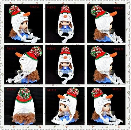 2019 Christmas Snowman Knitted Hat Newborn Infant Toddler Kids Cap Baby  Boys Girls Winter Hat Children Beanie Earflaps Cotton Yarn From Honey baby 1bba886157f