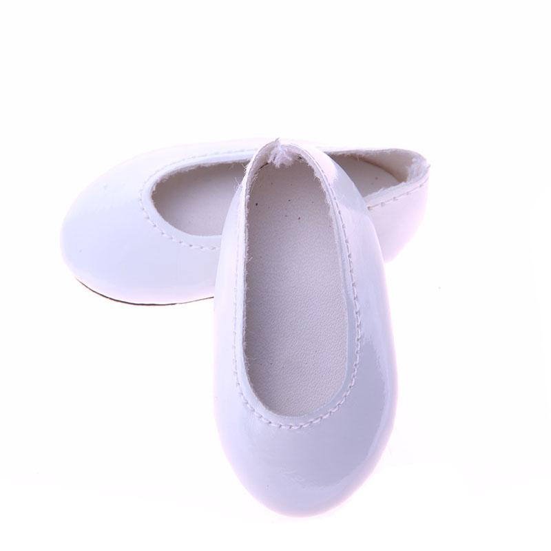 High quality handmade small leather shoes for 14.5inch American girl doll accessories Wellie Wisher