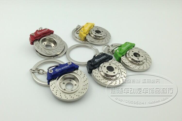 Creative Hot Sale Disc Brake Shape Auto Parts Model Keychain Key Chain Ring Key Fob Keyring 86032