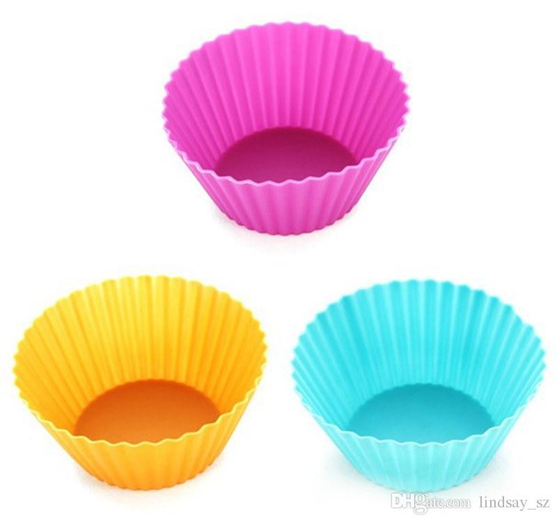 Runde Form Silikon Muffin Cupcake Form Fall Backformen Maker Form Tray Backen Cup Liner Backformen schnelle Lieferung