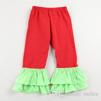 14 farbe rot grün einfarbig rüschenhose für baby kleinkind mädchen doppel rüschen flare hosen phantasie flare hosen