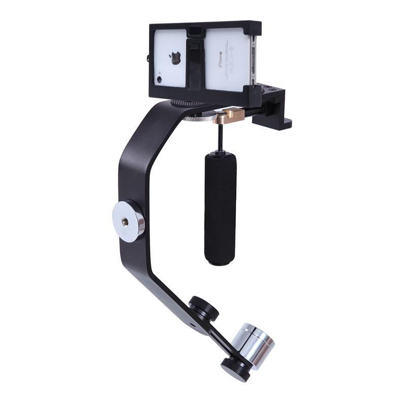 Freeshipping Motion Camera Stabilizer Gimbal Handheld Steadycam for iPhone 7 6 6s 5 4s For GoPro Hero 4 3 3+ Sony DV DSLR Camera