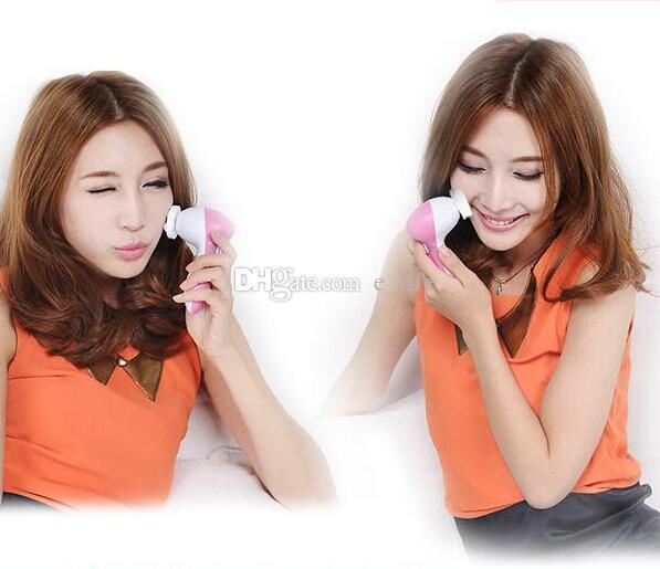 5 Em 1 Elétrico Facial Cleaner 2015 Profissional Escova de Cuidados Com A Pele Escova Produtos de Cuidados Pessoais Rosto Limpadores Purificador Frete Grátis
