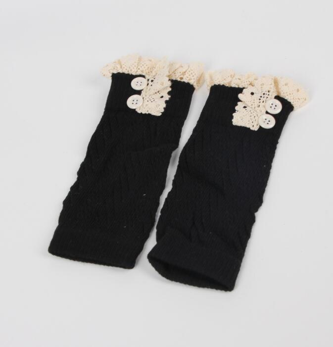 New Soft Winter Warm Kids Girls Baby Trendy Knitted Lace Leg Warmers Infants Toddlers Trim Boot Cuffs Socks Knee High