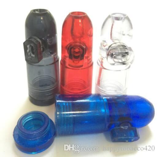 Snuff Bullet Bottle Snorter Snuff Rocket Sniff موزع شم الفخ والأنابيب البلاستيكية زجاجة التدخين