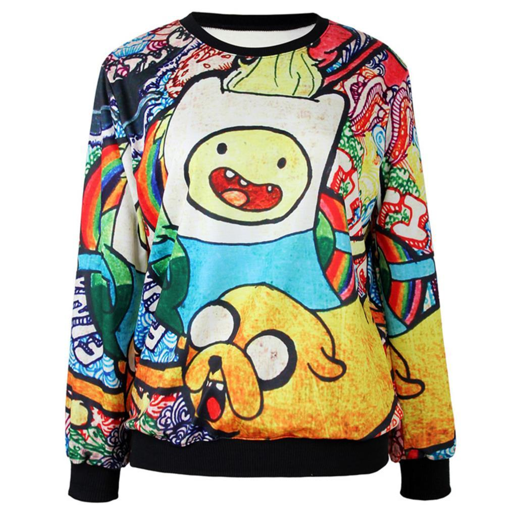 2017 2015 Harajuku Cute Women/Men Cartoon Hoodies Funny Pullovers ...