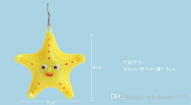 /Super Favorite Souvenirs Child LED Luminous Plastic Starfish Necklace Mix Colors