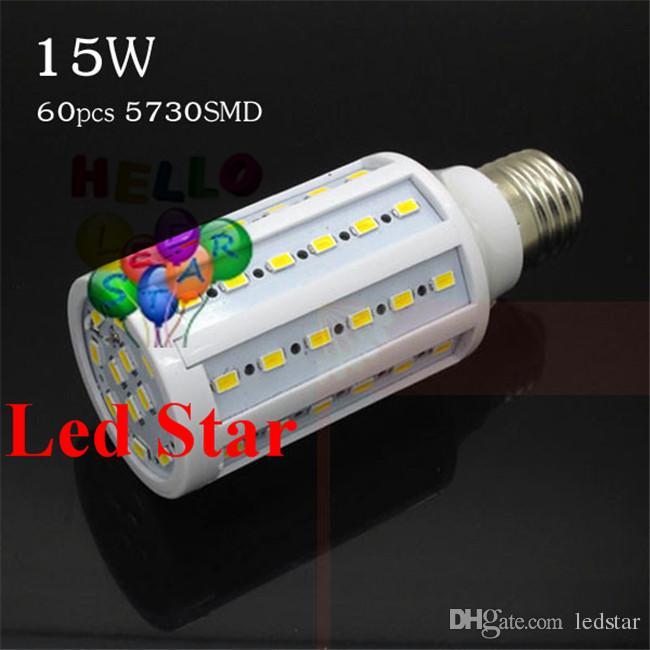 7W 12W 15W lâmpadas LED E27 E14 B22 SMD 5730 Led milho Luzes 360 Ângulo AC 110-240V