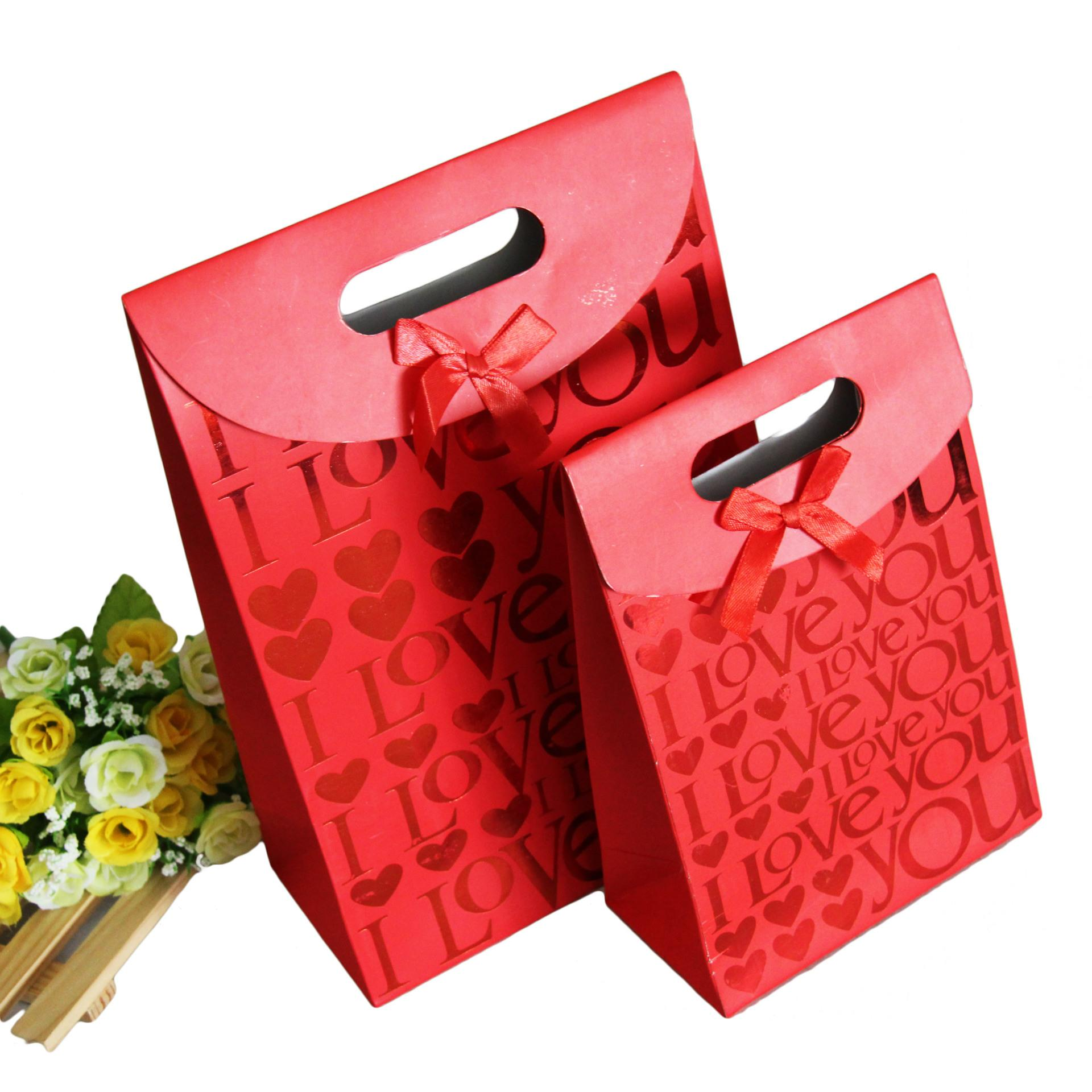 Red Wedding Favor Holders Paper Gift Bags For Wedding Candy Bags ...
