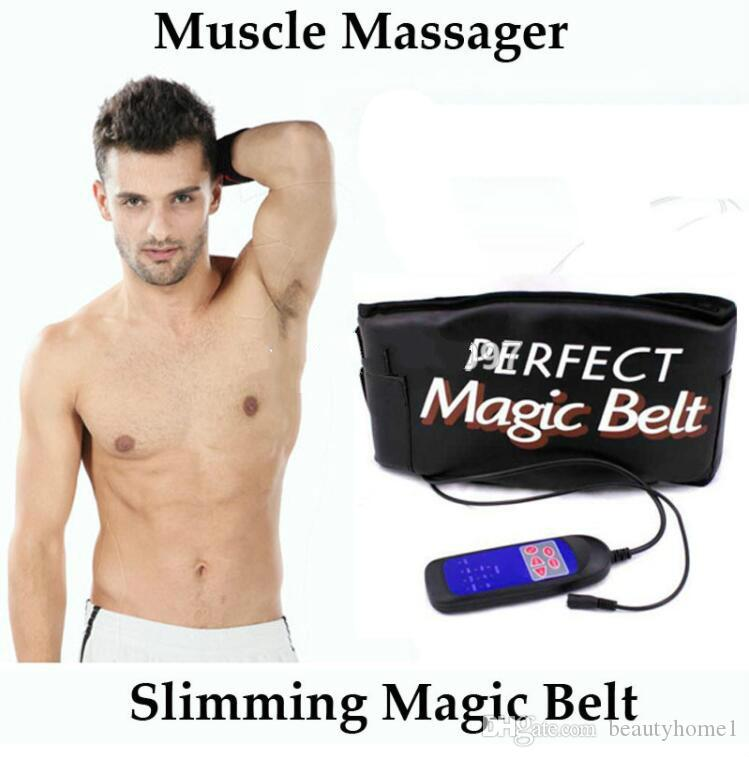 Thermo heating sauna massager belt vibration machine Abdominal muscle stimulator toner slender shaper care cinto de apoio lombar