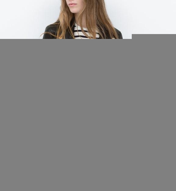 Xd141 Women Cool Black Faux Leather Jacket Fashion Autumn Tight ...