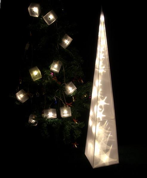 Light For Festival Atmosphere Plastic Pyramid Star Effect Inside ...