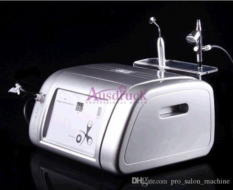 Eu Imposto livre de Água Portátil Jato de Oxigênio Peeling Facial Máquina de Rejuvenescimento Da Pele Acne Remoção de Rugas Injeção de Oxigênio Spray de Cuidados Com A Pele instument