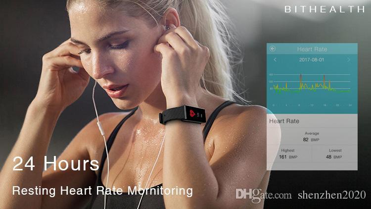 Z4 Spor Izci Bileklik Kalp Hızı Monitörü Akıllı Bant Renkli OLED Ekran Pedometre Sağlık Spor Akıllı Android iOS için Bilezik 2017