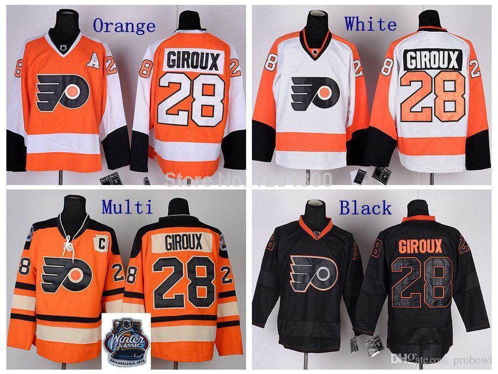 2019 Cheap  28 Claude Giroux Jersey Philadelphia Flyers Hockey Jerseys 2012  Winter Classic Orange White Stitched Jersey C Patch From Probowl 8e6fd2b12747
