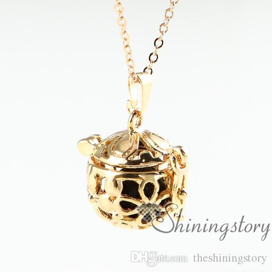 цветок ажурный эфирное масло диффузор ожерелье Оптовая масло диффузор ожерелье диффузор ювелирные изделия