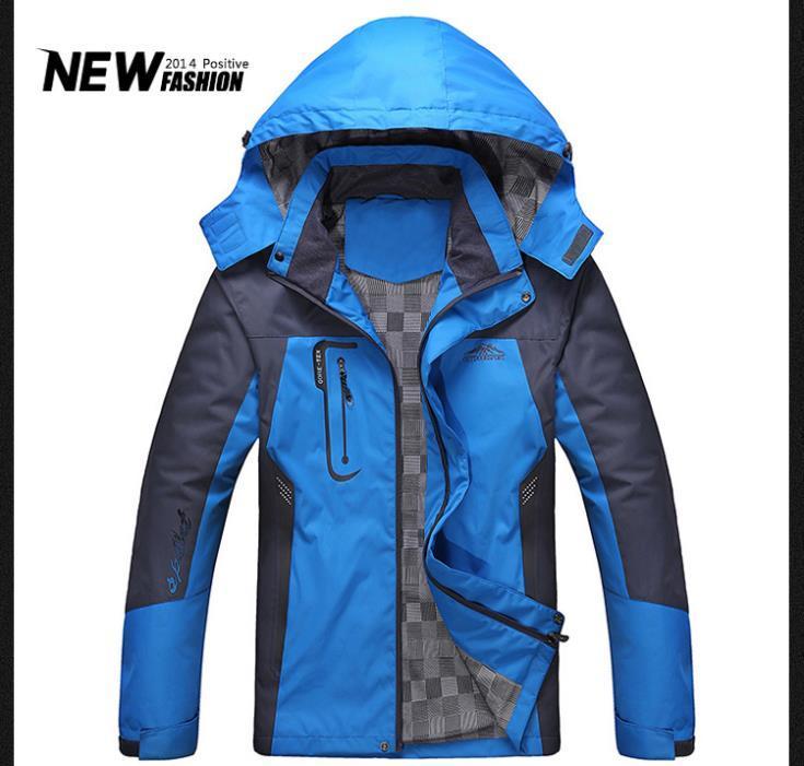 Fall Outdoors Snow Jacket Men'S Winter Coat Cotton Hoodies For Men ...