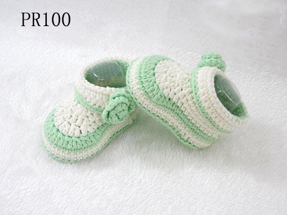 crochet baby shoes baby booties handmade booties infant crochet baby knitting shoes for baby girls 0-12M customer