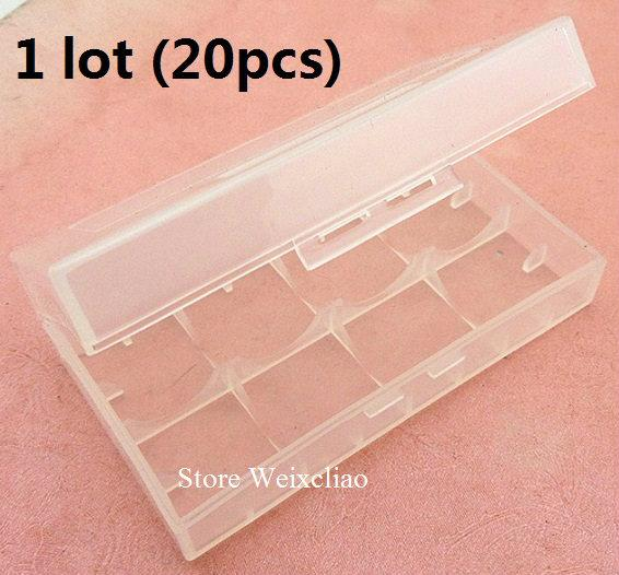 18650 16340 cr123 14500 17670 литиевая батарея коробка влагостойкая коробка для хранения 1 лот 20 шт. Бесплатная доставка