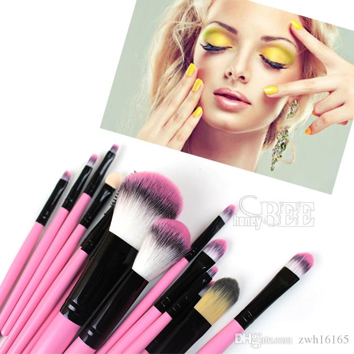 Lady Gril Professional Makeup Brushes Set Brush Makeup Tools Foundation Eyeshadow Lip brush With Makeup Bag