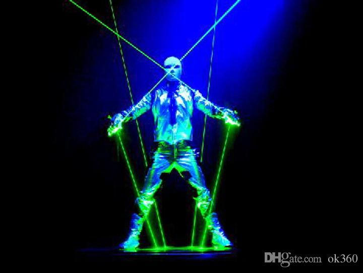 Chiristmas Лазерные перчатки RGB 532nm зеленый Лазерные перчатки LED palm light танцы этап шоу Свет MY4KEYPZVV или DJ клуб/партии/бары