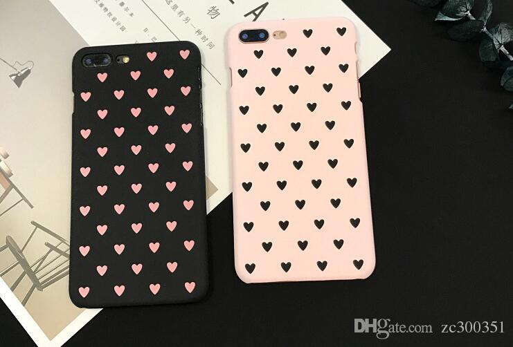 Fashionable model love ground sand iphone 7/8 plus shell rear cover type protective cover