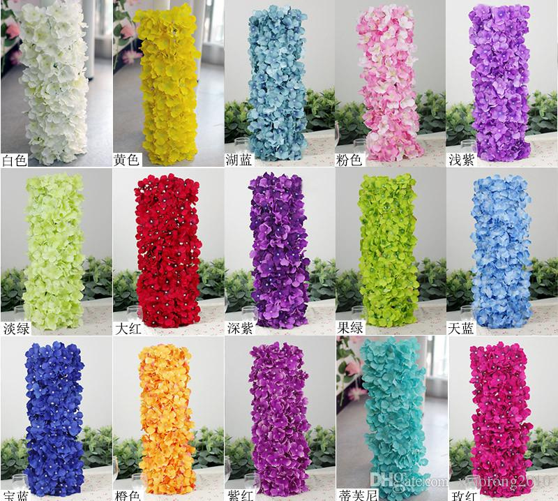 Artificial Hydragea Flower With Plastics Square Shape Base