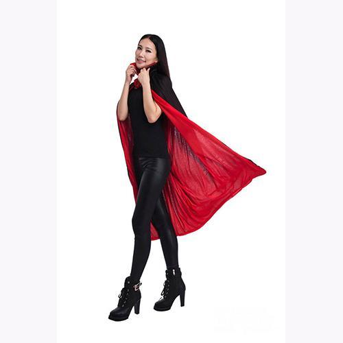 Nouveau Halloween Vampire Noir Rouge Cape Unisexe Enfants Adulte Col Manteau Party Club Carnaval Costume