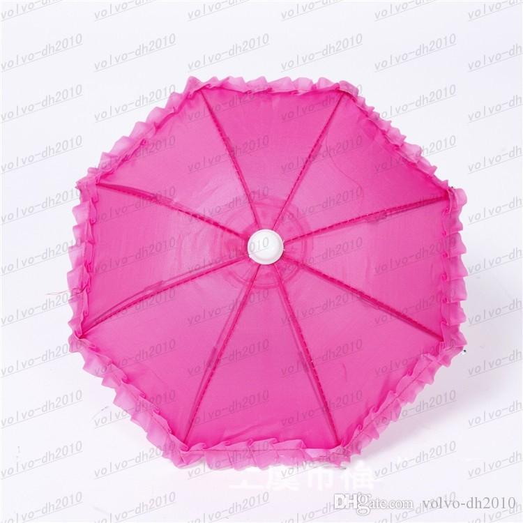 Dia 28cm Candy Color Solid Color Lace Umbrella Dance Umbrella Umbrella Toy Props Umbrella Special Multicolor LLFA4797F