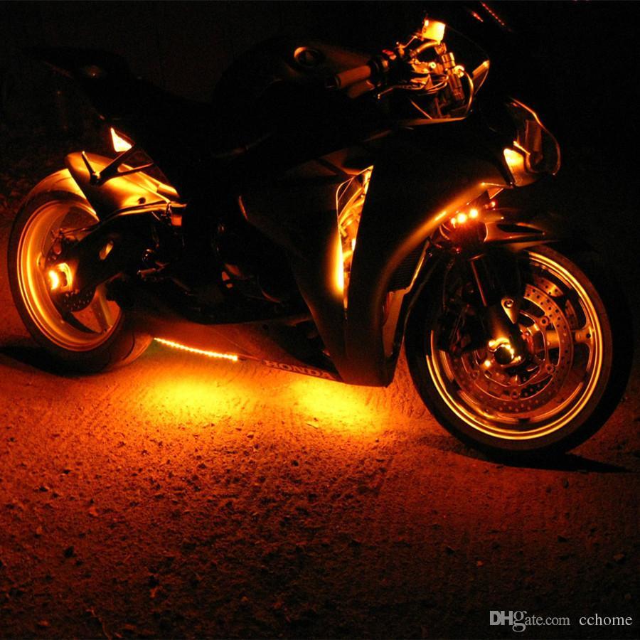 3 Größen 10 geführte Streifen 15 Farbe RGB-LED Knight Rider Bodeneffekt-Licht-Kit für Motorrad-Fahrrad