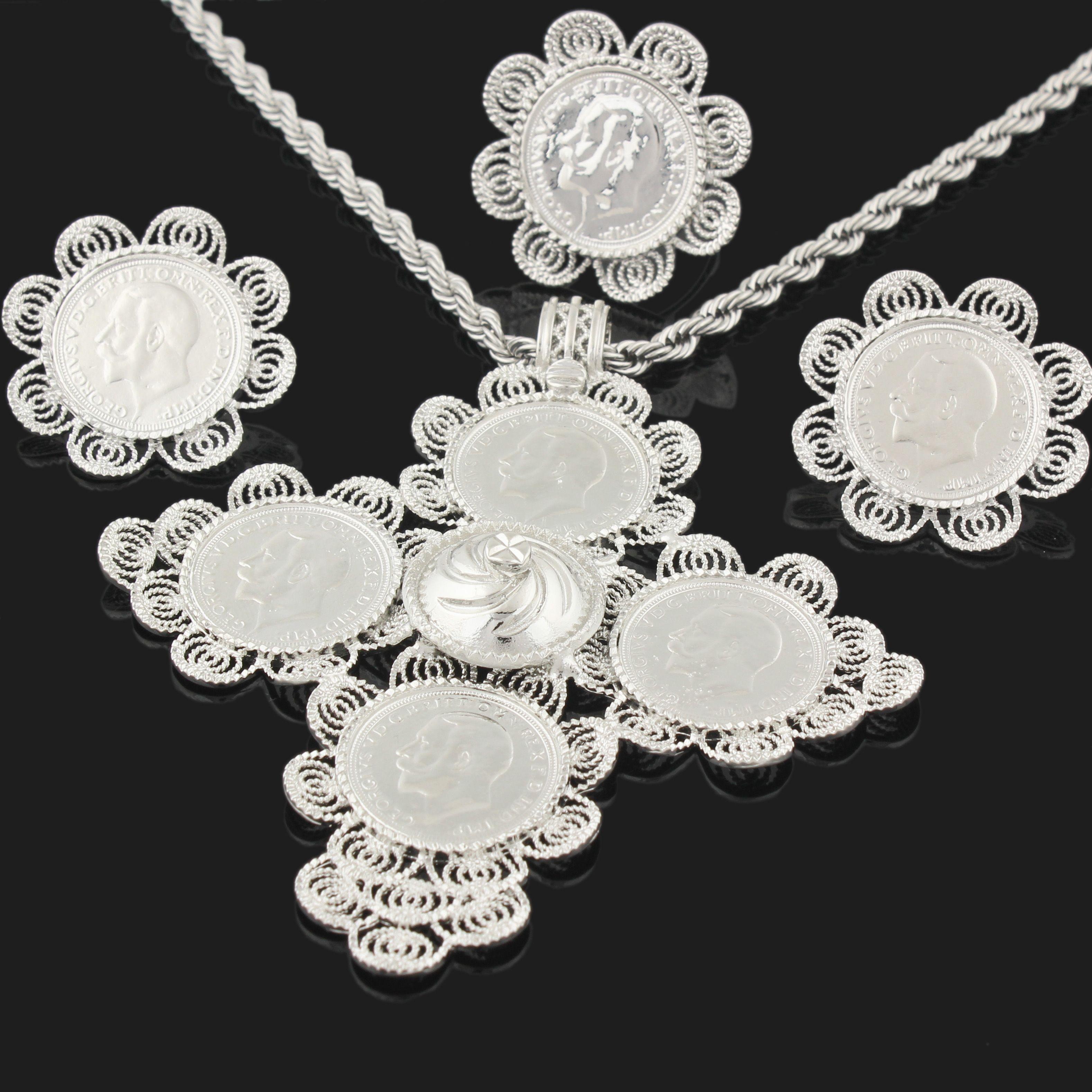 Newest Big Size Cross Ethiopian Wedding Habesha Jewelry Sets For