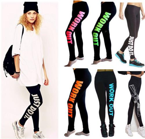 2017 9 Designs Workout Leggings With Printed Women Workout Pants ...