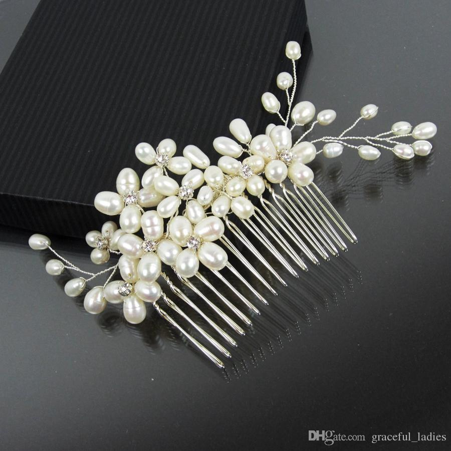 pearl bridal hair comb bridal hairpiece jewelry bridal comb