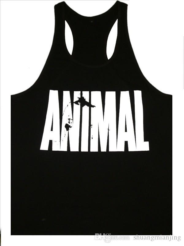 Erkekler Spor Stringer Tank Top Vücut Geliştirme Fitness Pamuk Kolsuz T Gömlek Yelek Erkekler 'Spor Tankı Üstleri Spor Giysileri