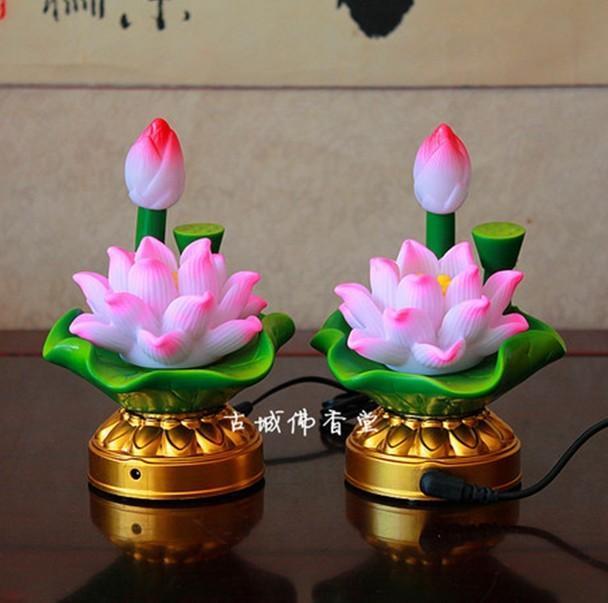 Buddha Lamp Led Seven Colorful Lotus Flower String Lamp Plug Battery