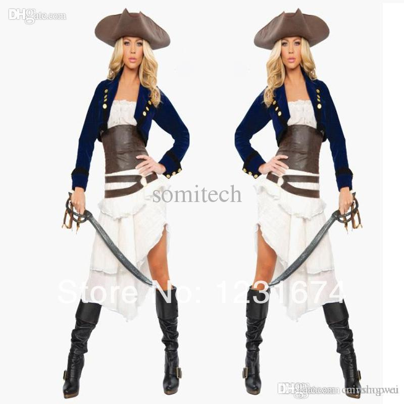 Wholesale Halloween Costume Goth Queen Cosplay Costume Caribbean ...