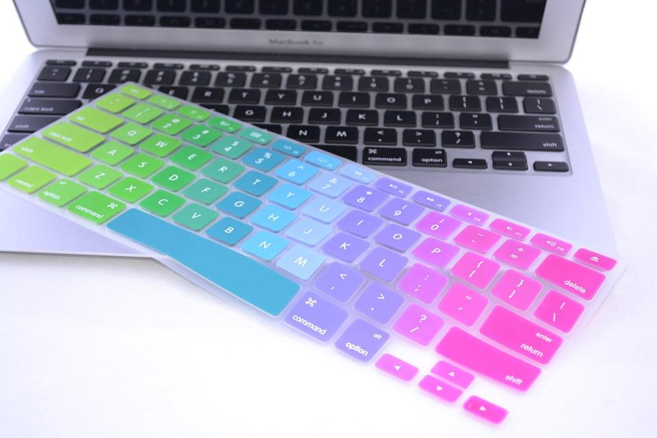 Azerty Eu French Dazzle Rainbow Silicone Keyboard