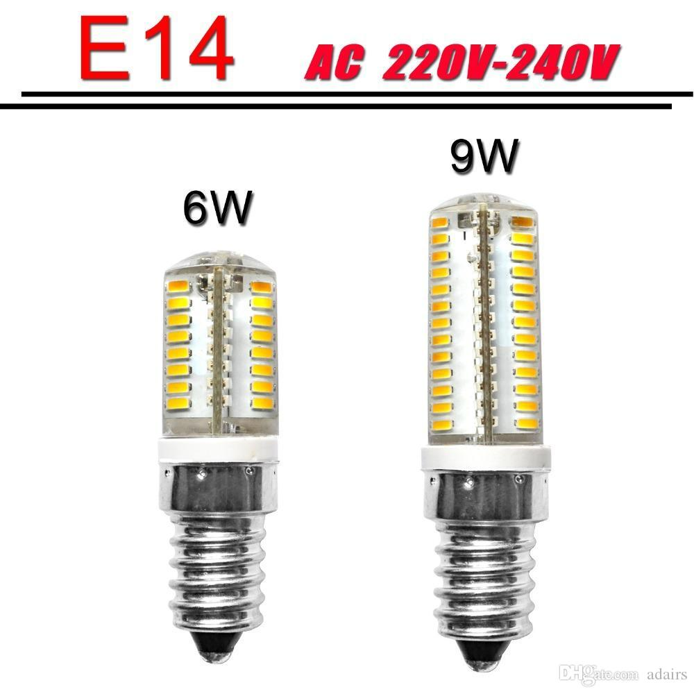 best mini e14 led bulb led e14 220v 6w 9w led smd 3014 silicone body light warm white replace. Black Bedroom Furniture Sets. Home Design Ideas