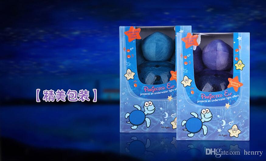 Children baby sleep night light, creative spirit lamp sea, ocean Star Projector lamp, speed sound of the waves