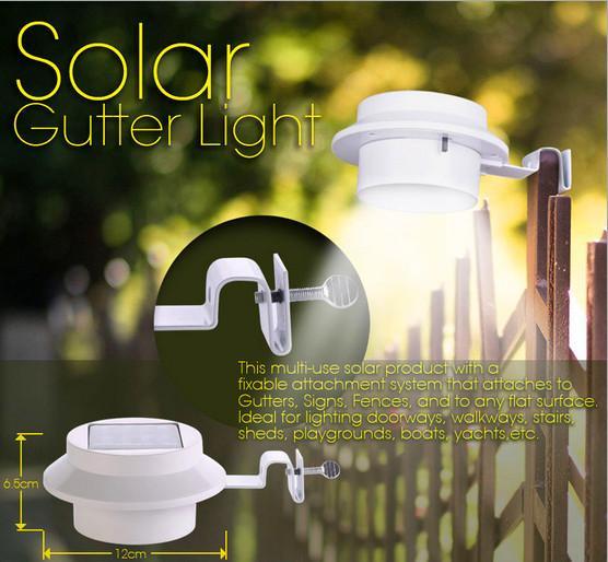 Le luci solari il giardino solare hanno condotto l'illuminazione della parete esterna La lampada solare automatica del tetto IP55 3 leds DHL libera il trasporto
