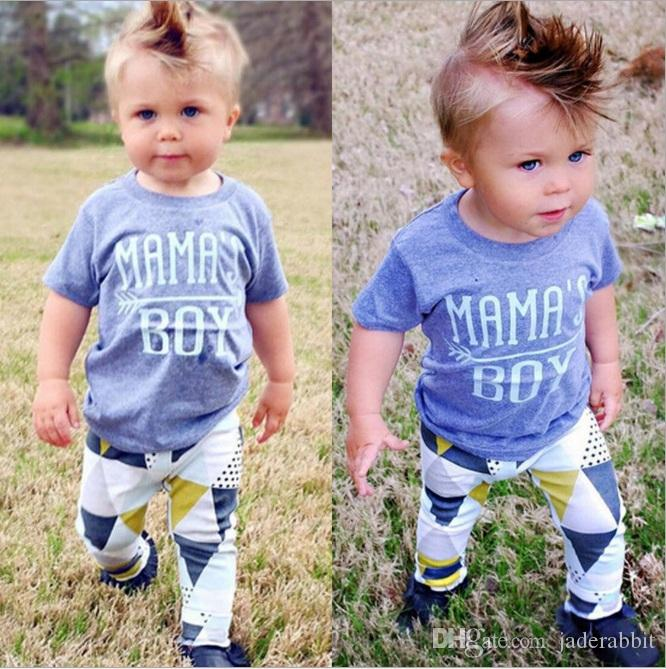 def0653c334e 2019 Boys Letter Tee+Triangle Long Pants Outfits Summer 2017 Baby Kids  Clothes For Boutique Children Baby Boys Short Sleeves Pants Set From  Jaderabbit