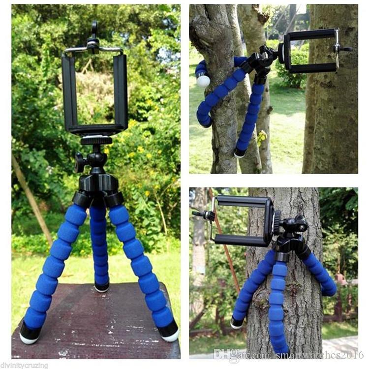 Car Cell Phone Holder Flexible Octopus Tripod Bracket Selfie Stand Mount Monopod Styling Accessories For Mobile Phone Samsung Camera