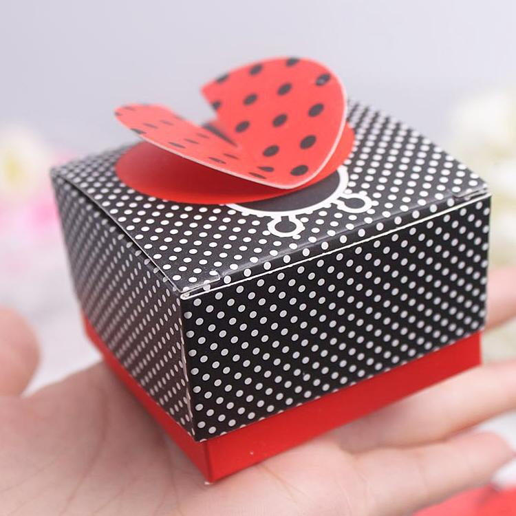 Baby Shower Favors Ladybug cute ladybug candy box baby shower gift box birthday party gift