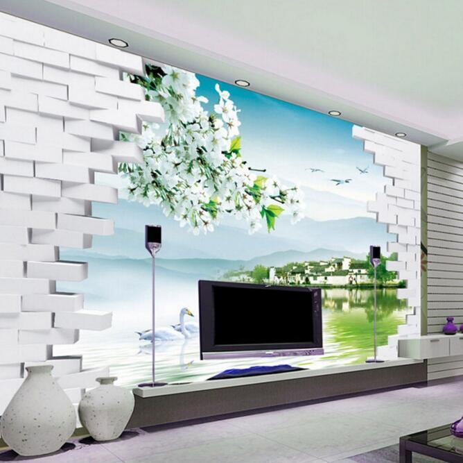 morden home decor fashion 3d tv backdrop decorative painting
