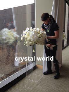 Acrylic Tall Flower Stand Centerpieces Tall Floor